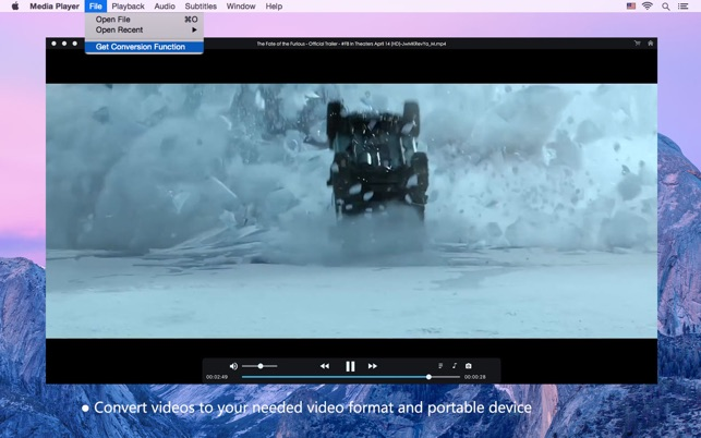 iFunia Media Player on the Mac App Store