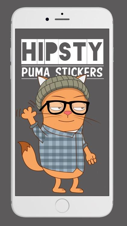 Hipsty Puma Cat Stickers