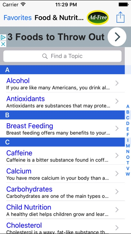 Food & Nutrition: Healthy Facts and Tips App