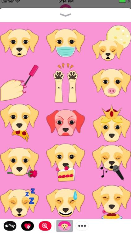 Cream Labrador Emoji