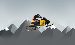 Snow Mobile Mountain Race TV