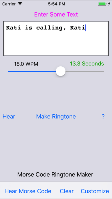 Morse Code Ringtone - by Ronald Nicholson - Tools Category - 21 Reviews -  AppGrooves: Get More Out of Life with iPhone & Android Apps