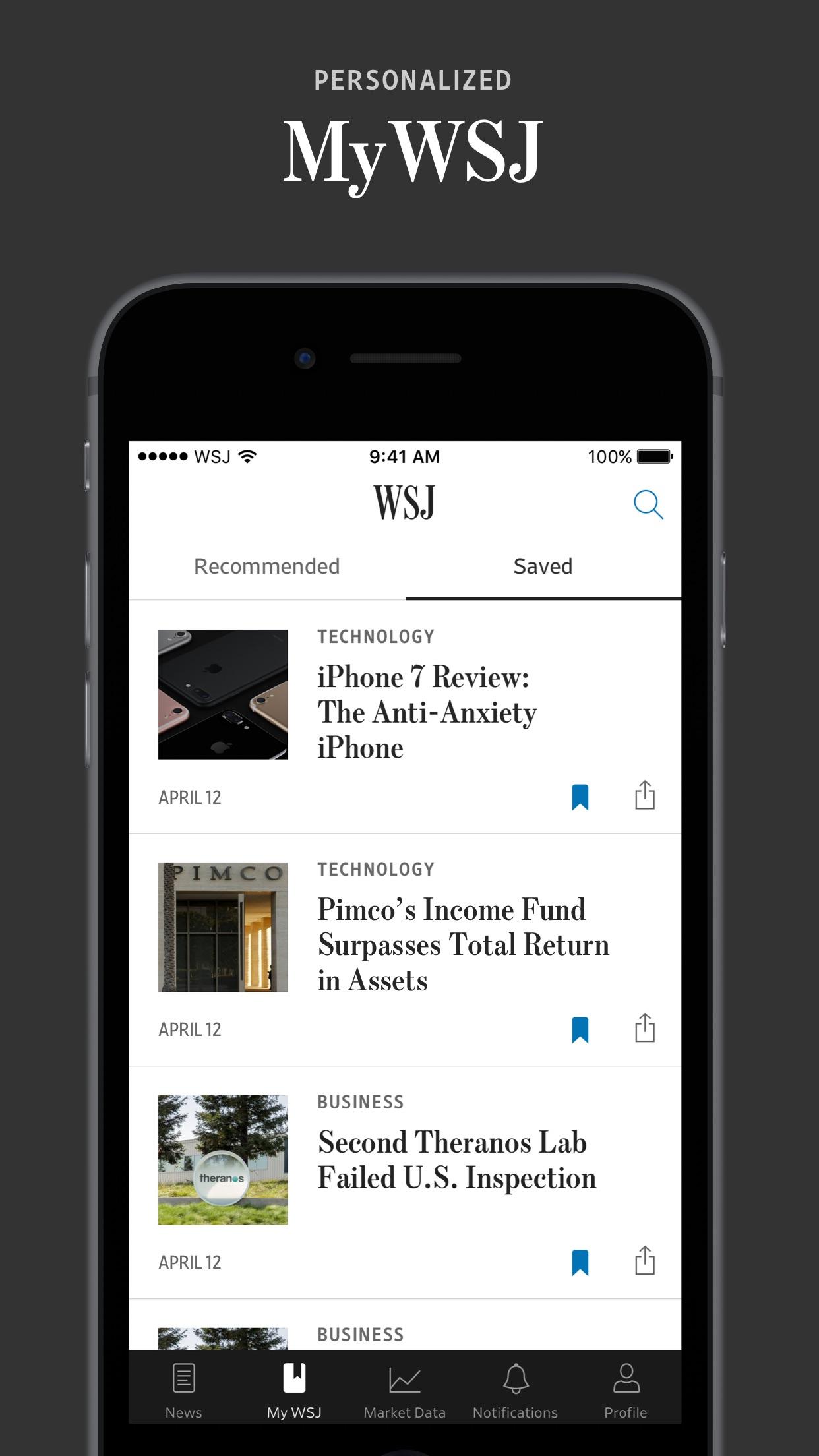 The Wall Street Journal. Screenshot