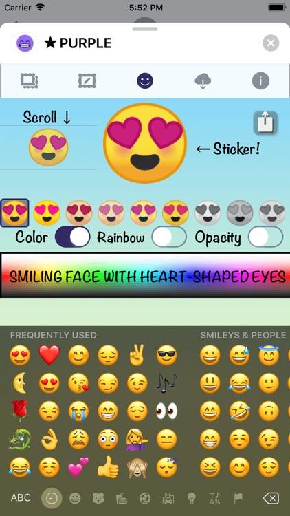 PURPLE Emoji • Stickers screenshot-4