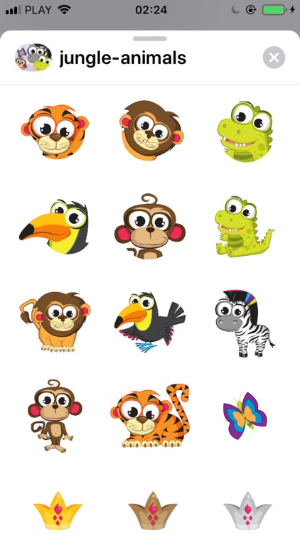 Jungle Animals - Stickers