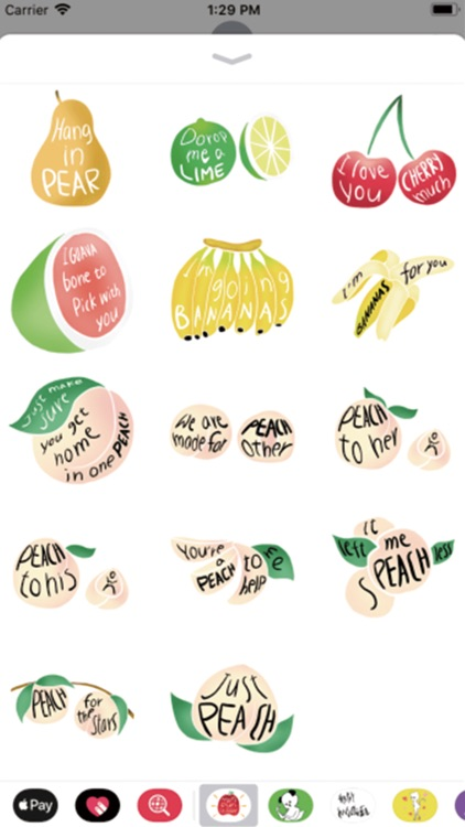 Fruits Pun Stickers