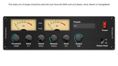 Audio Compressor AUv3 Plugin screenshot 1