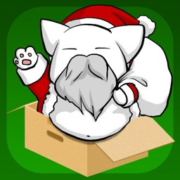 Flying Santa Cat