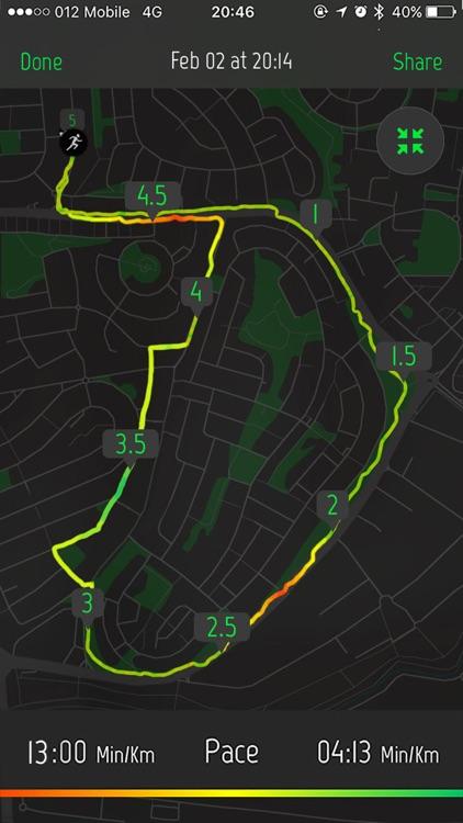 Running Distance Tracker.