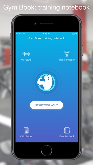 Gym Book: training notebook screenshot one
