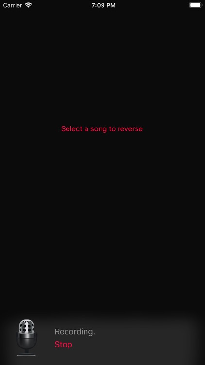 Reverse Music Player