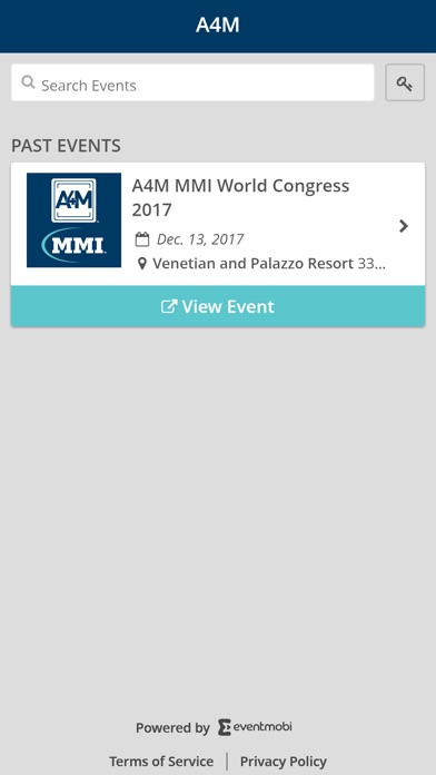 Image of A4M Events App for iPhone