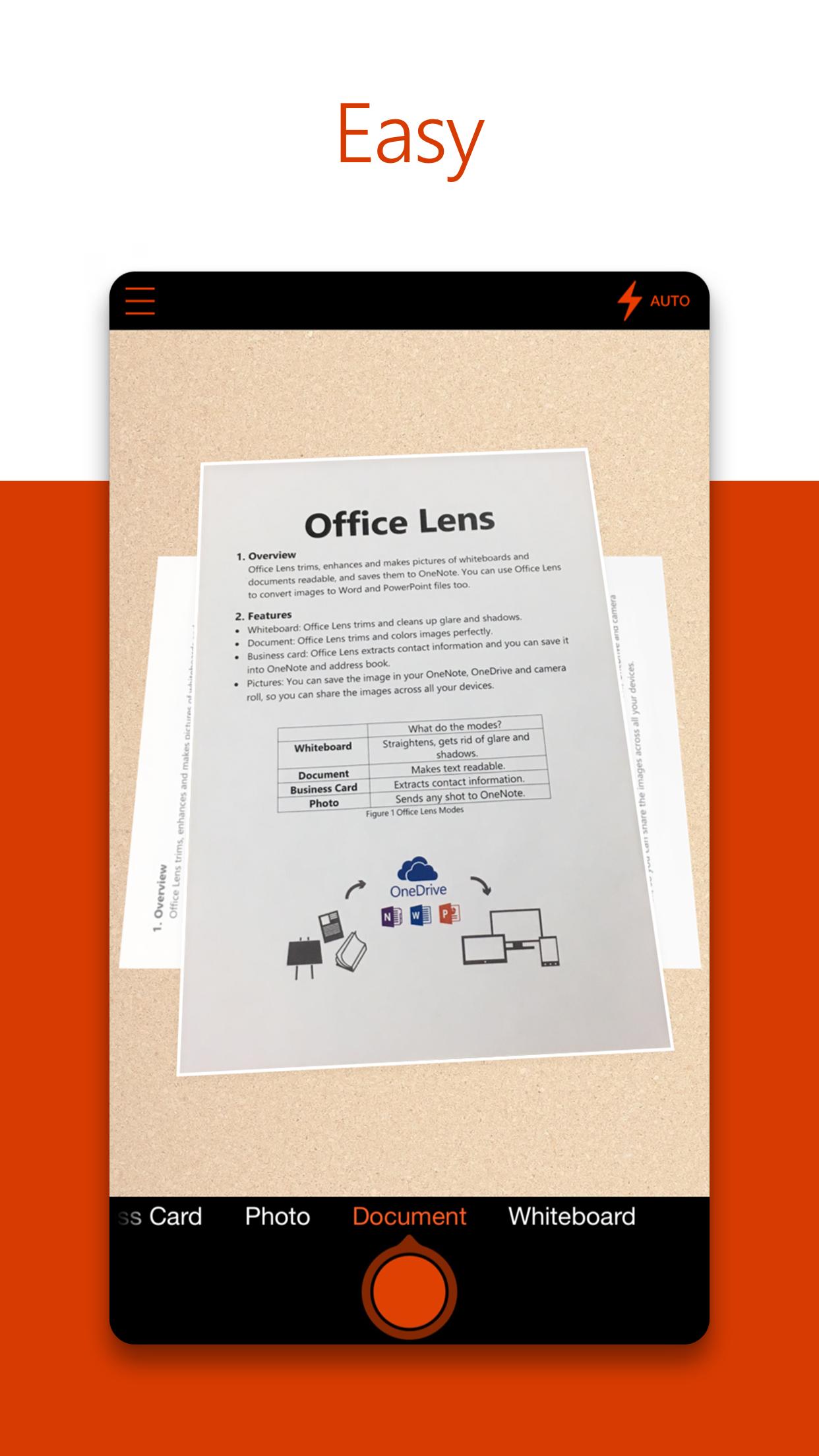 Office Lens Screenshot
