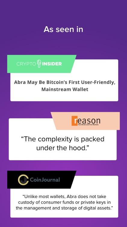 Abra: Bitcoin, XRP, LTC screenshot-4