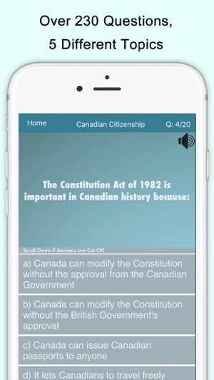 Canada Citizenship Test on the App Store
