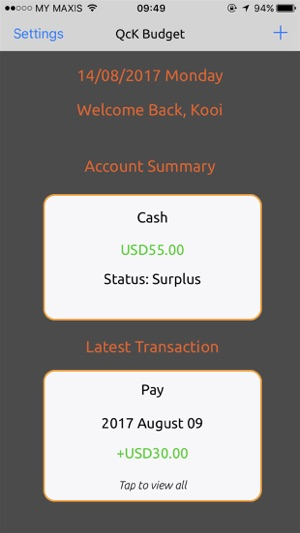 qck budget simple money manager on the app store