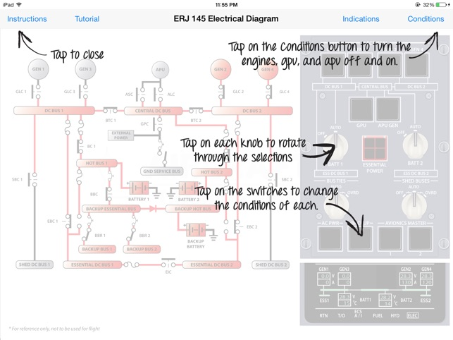 erj 145 electrical diagram on the app store rh itunes apple com Home Electrical Wiring Diagrams Electrical Diagram Symbols
