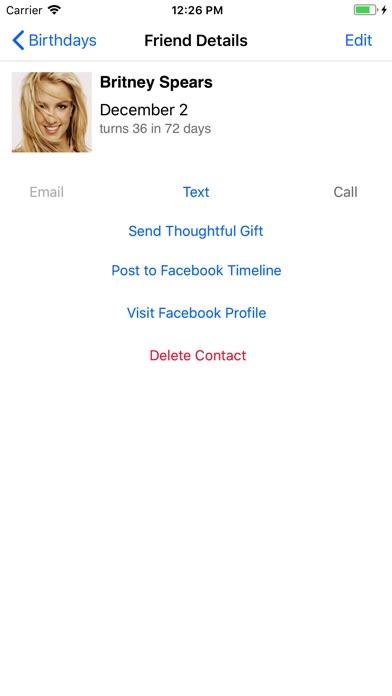 Birthday Reminder Pro review screenshots
