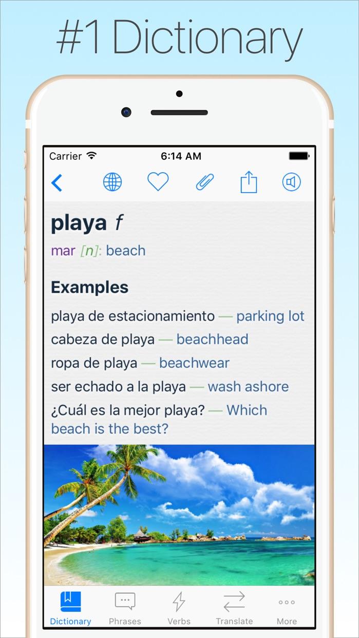 Spanish Dictionary & Translator + Screenshot