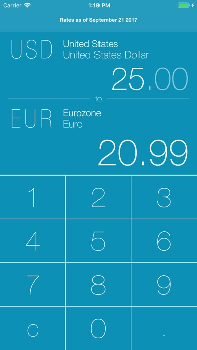 Screenshot 1 For Next Currency Converter Pro