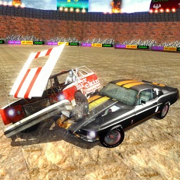 Real Demolition Derby Car Battle