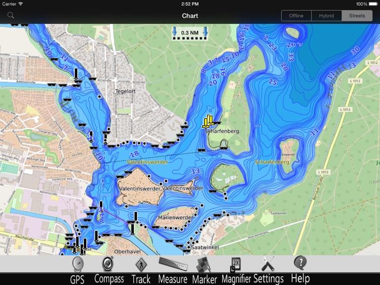 Berlin Lakes GPS Chart Pro screenshot-3