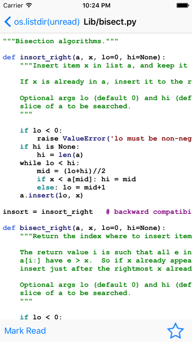 Python Code Samples Screenshot