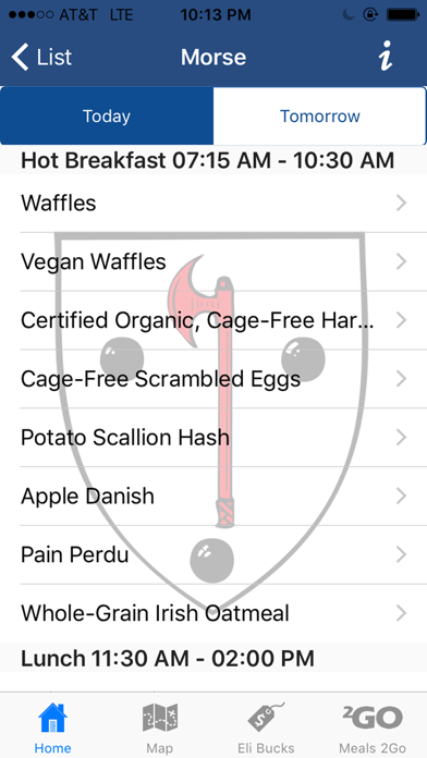 Yale Dining screenshot two