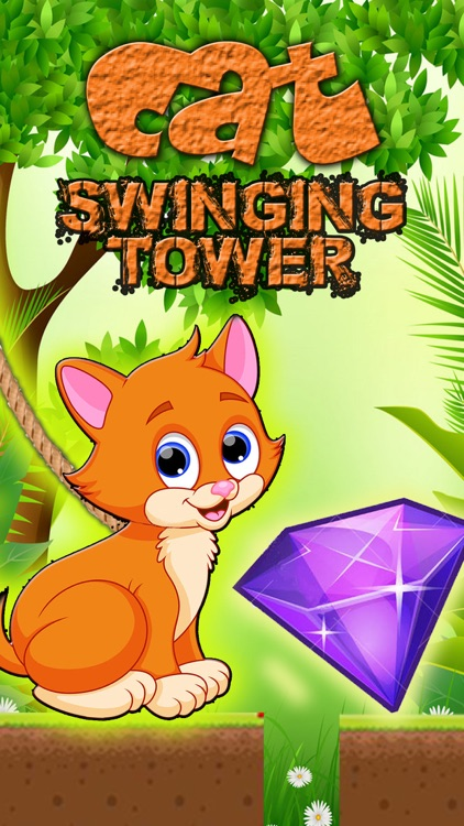 Cat Swinging Tower Jumping