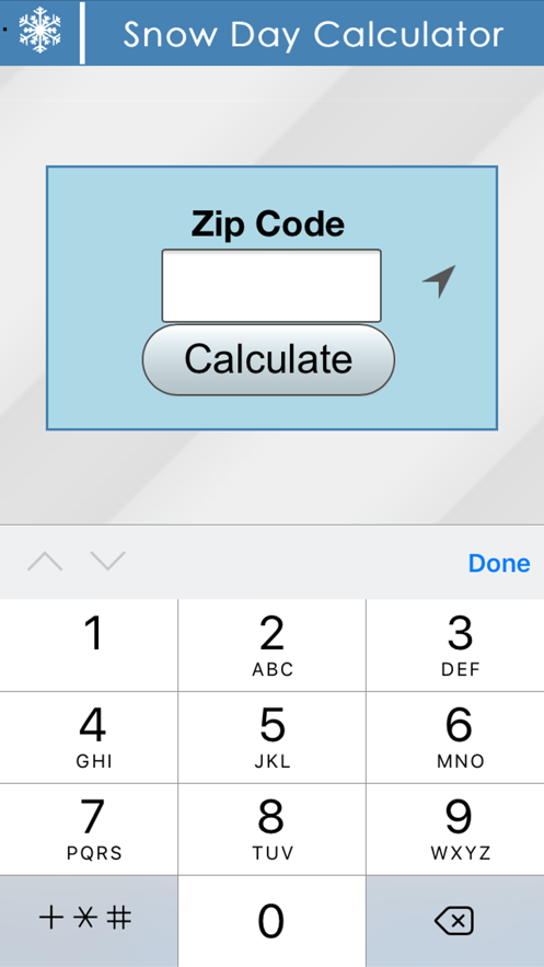 Snow Day Calculator App 截图