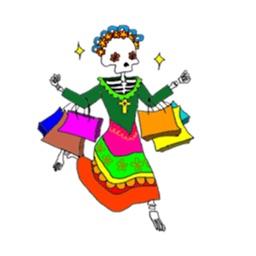 Funny Mexican Skull Sticker