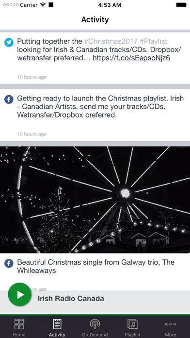 Irish Radio Canada screenshot two