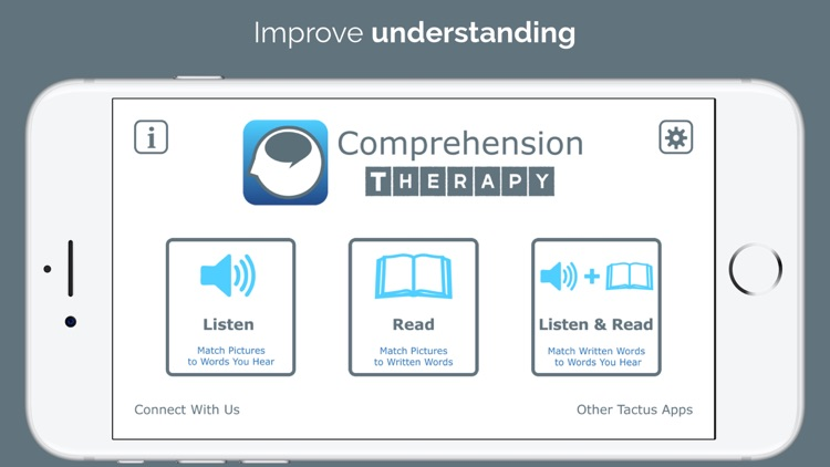 Comprehension Therapy