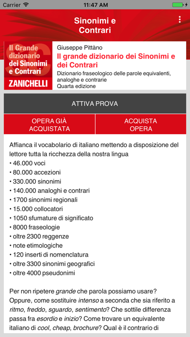 Screenshot of Sinonimi e contrari Zanichelli1