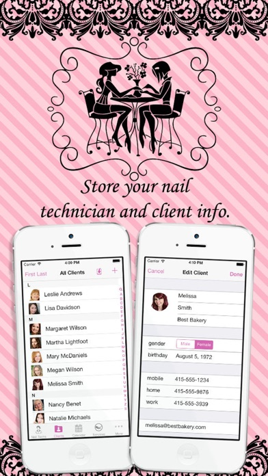 eNails - Nail salon appointment schedule calender screenshot two