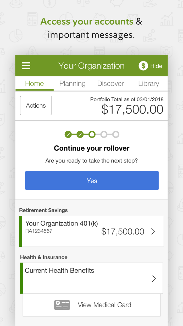 NetBenefits Screenshot