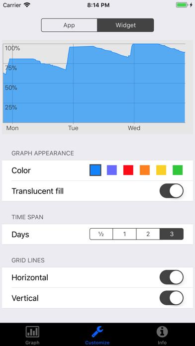 Battery Graph Widgetのおすすめ画像2