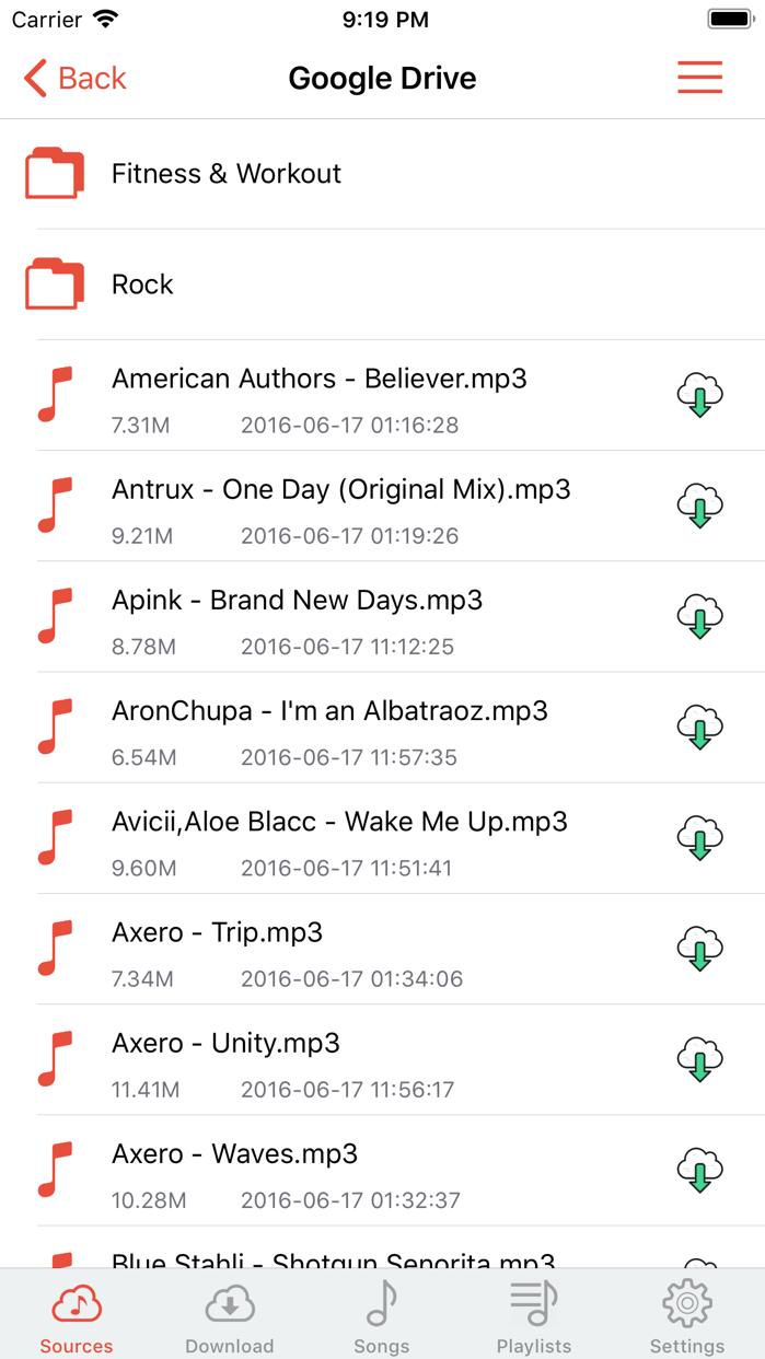 Cloud Music Player - Listener Screenshot