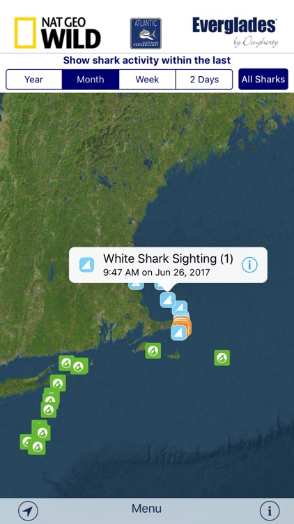 Sharktivity - White Shark Sightings