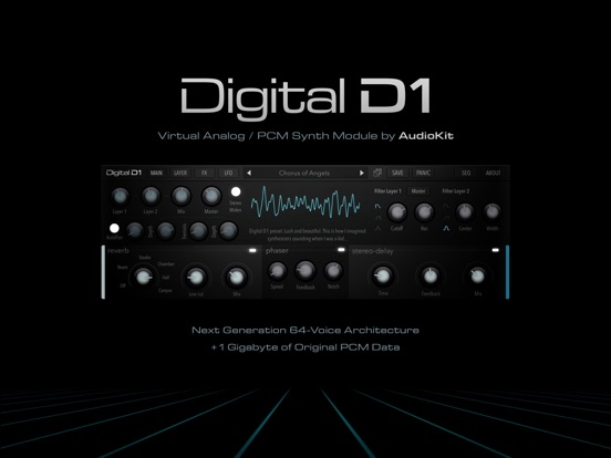 Screenshot #4 pour AudioKit Digital D1 Synth