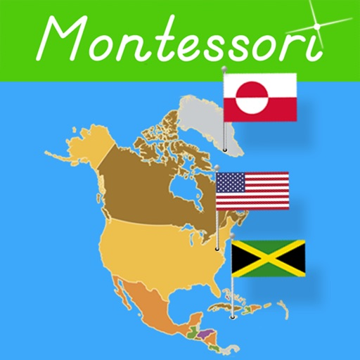Flags of North America - Montessori Geography