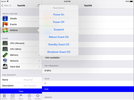 iVMControl VMware® vCenter&ESX by Project Eureka LLC (iOS, United States) -  SearchMan App Data & Information