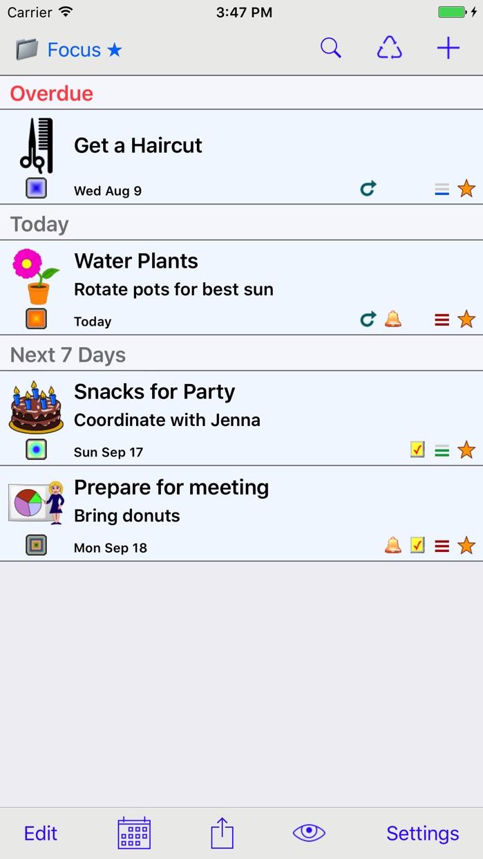 Errands To-Do List Screenshot