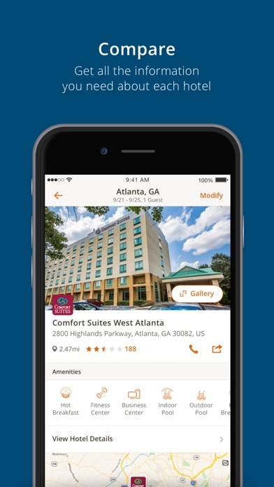 Choice Hotels iPhone