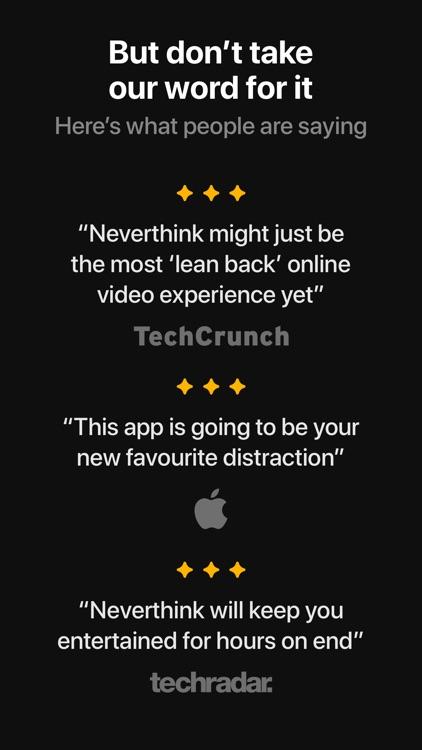 Neverthink: Handpicked videos screenshot-5