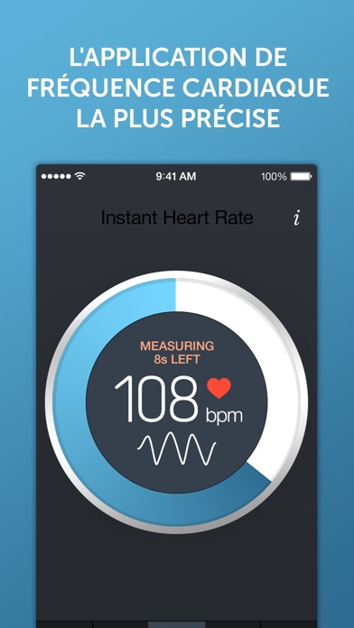 Screenshot for Fréquence Cardiaque+ in France App Store