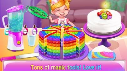Rainbow Unicorn Cake MakerCaptura de pantalla de4