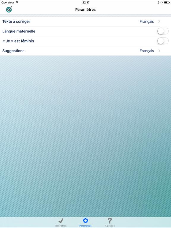 BonPatron Mobile iPad captures décran