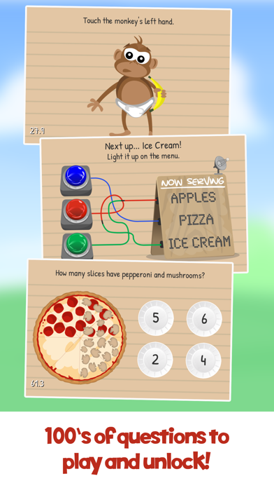 The Moron Test Screenshot on iOS