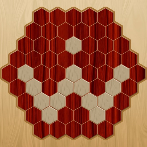 wood hexagon puzzle game iOS App